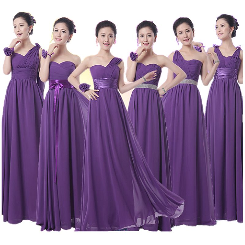 LCM Royal Purple Bridesmaid Dress Long formal Chiffon Dark Purple ...