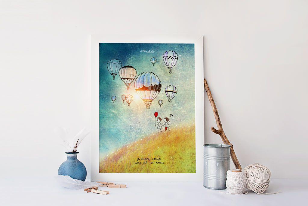 Present Tense Art Prints Art Letter Art