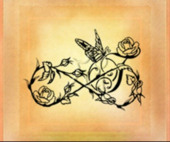 Rose Tattoos With Words Google Search: Infinity Symbol With A Rose Tattoo