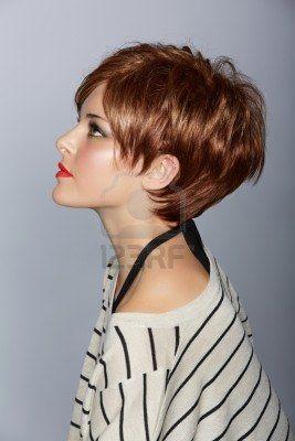 pelo corto mujer 14692501 perfil de una hermosa mujer con labios