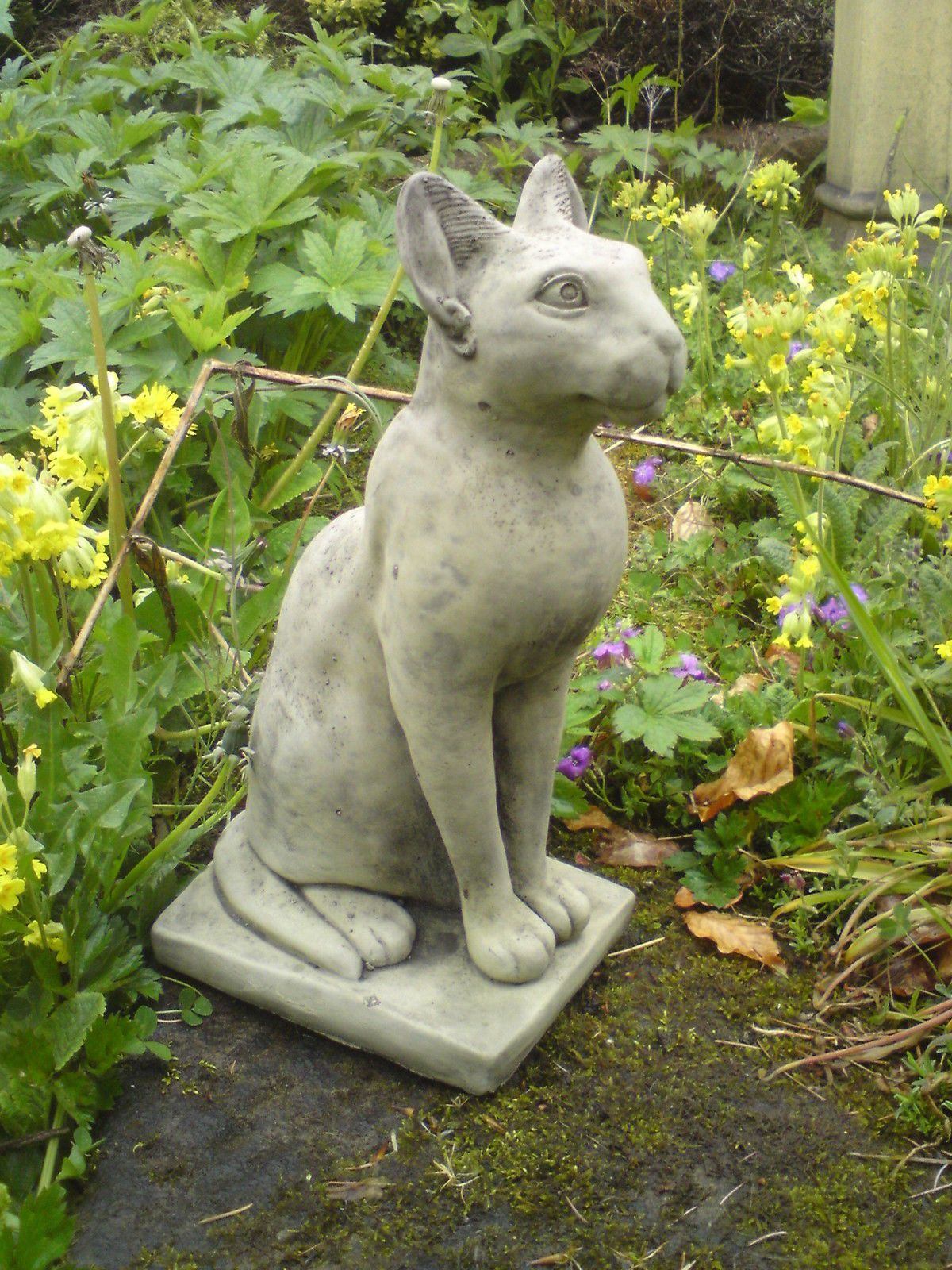 STONE GARDEN EGYPTIAN CAT / SPHYNX ANIMAL ORNAMENT eBay