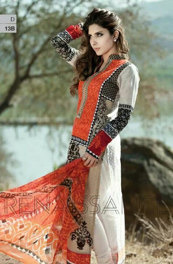 d80bf4a588 Lawn suit with silk dupatta | ZaiB-e-TaN PaKiStAn in 2019 | Dresses ...