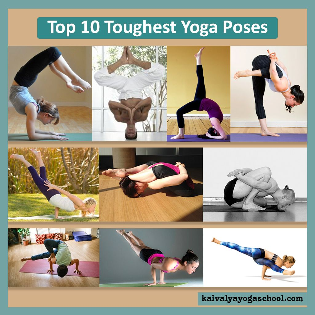 Top 45 toughest yoga poses. These are advanced yoga postures and