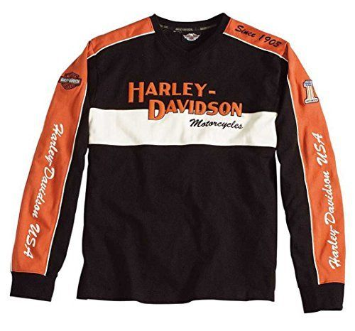 Harley-Davidson Men's Prestige Long Sleeve Sweater Black  Orange 98477-06VM  Price : $59.95 - $64.95 http://www.wisconsinharley.com/Harley-Davidson-Prestige-Sleeve-Sweater-98477-06VM/dp/B00IOYVU6C