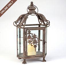 Ornate Metal Scroll Lantern at Kirkland's - SO pretty ... on Lanterns At Kirklands id=85067