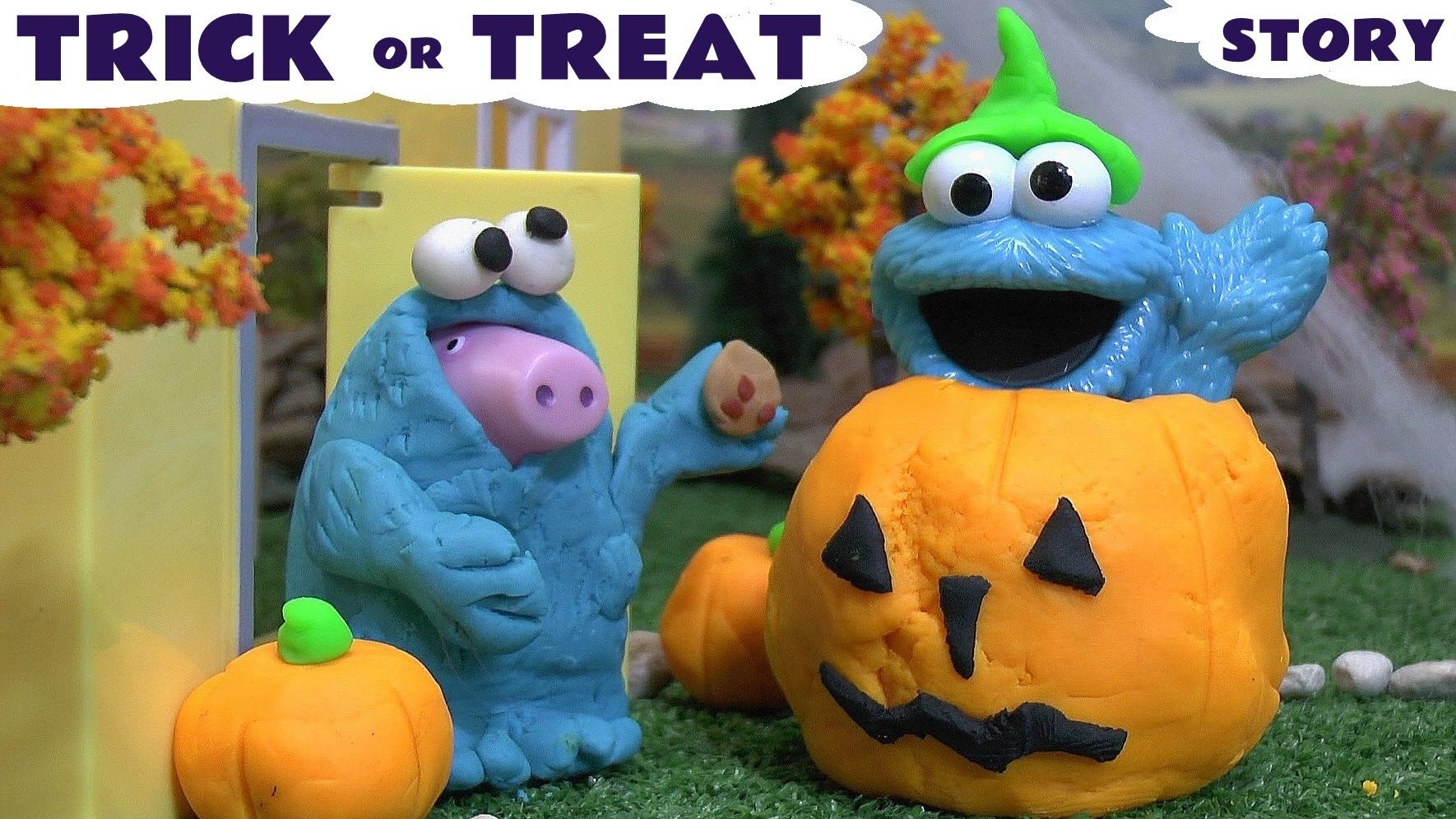 Halloween Trick Or Treat Play Doh Peppa Pig Halloween Costume Prank Stor... Peppa Pig get's disturbed by a Trick Or Treater, many times, but then get's shock at Peppa's Halloween Costume. Fun story. #halloween   #halloweencostume   #halloweencostumeideas   #trickortreat   #peppapig   #peppa   #pepa   #cookiemonster   #story