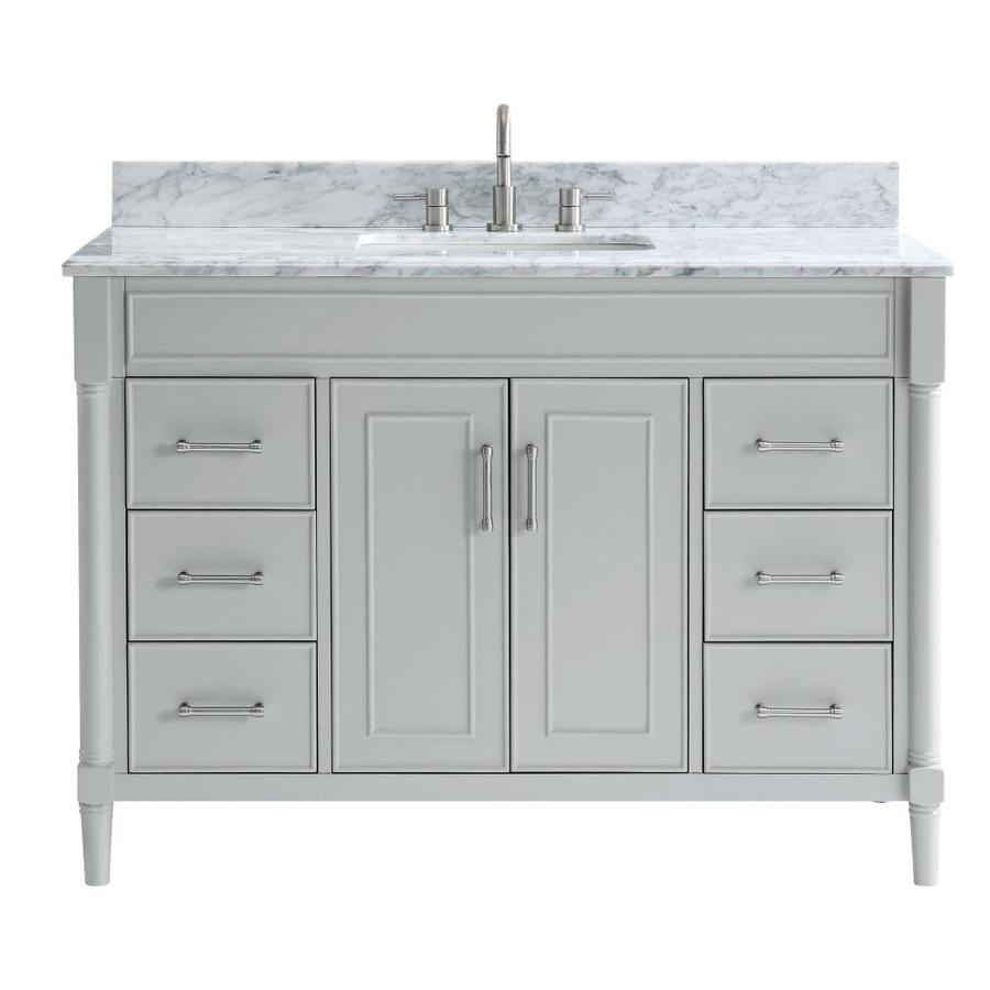 Allen Roth Perrella 49 In Light Gray Single Sink Bathroom Vanity