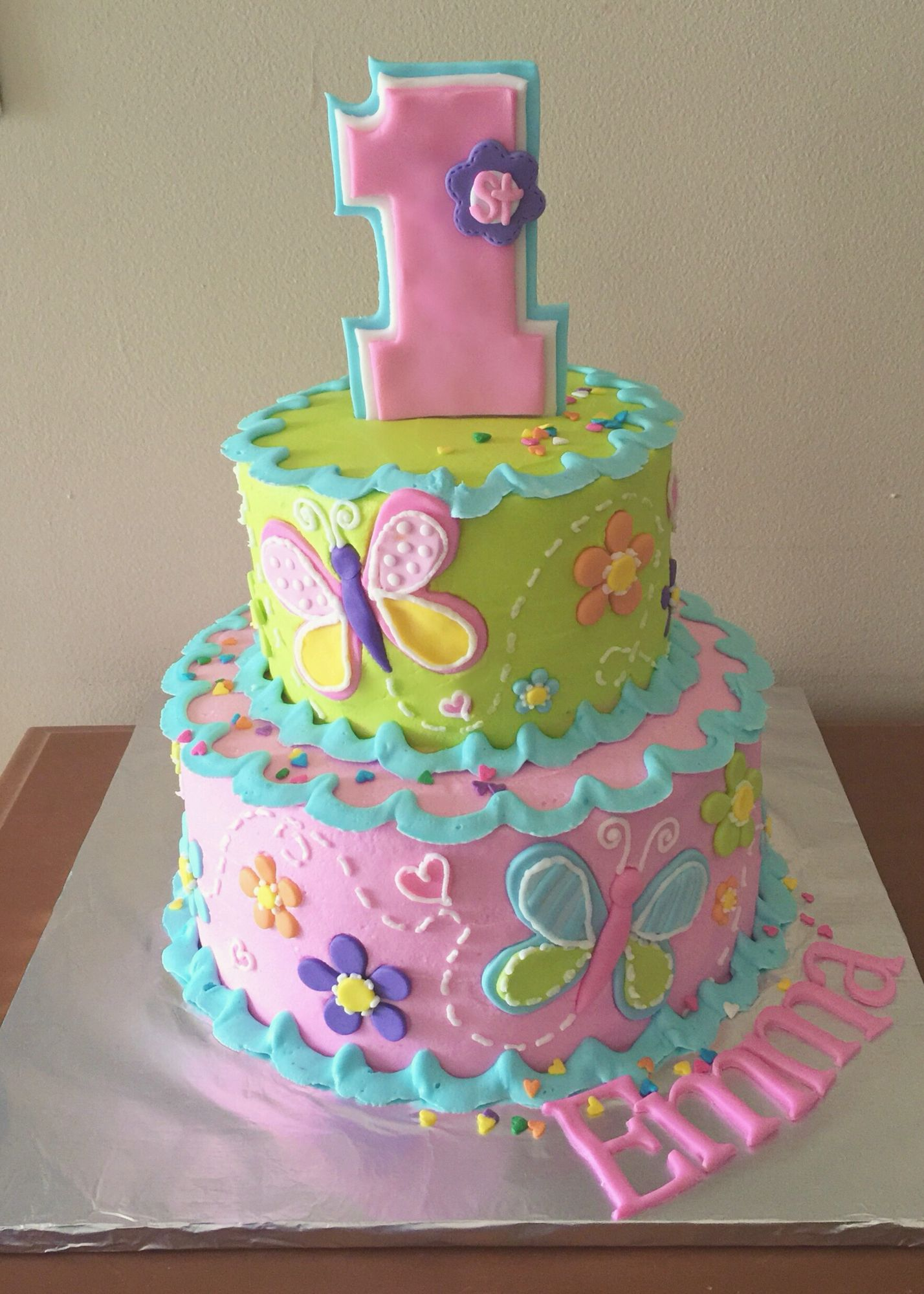 1st Birthday Cake For A Girl My Own Cakes Pinterest Birthday