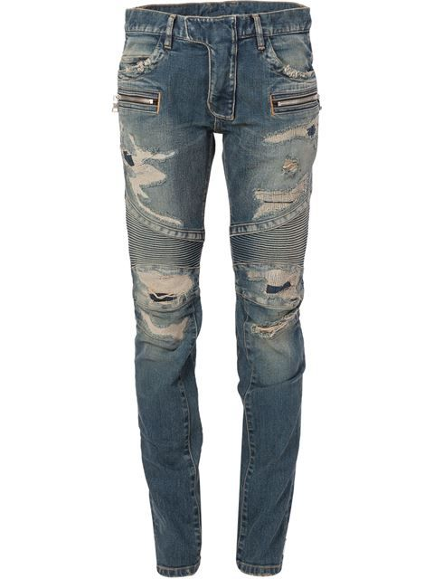 60a55ce37f Shop Balmain distressed biker jeans in The Webster from the world's best  independent boutiques at farfetch.com. Shop 300 boutiques at one address.