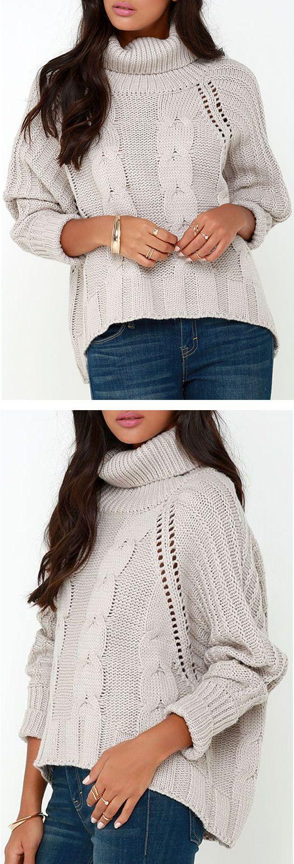 Cozy Grey Oversized Sweater ❤ | F/w fashion | Pinterest | Cozy ...