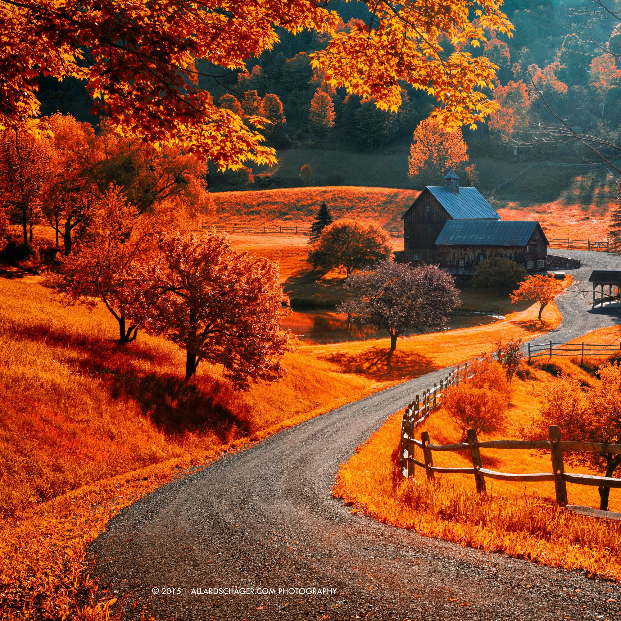 The World Famous Sleepy Hollow Farm Near Woodstock Vermont Shot Was Taken Against The Sun Thus Quite Boring So I