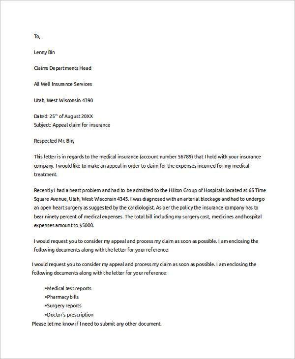 claim template letter business proposal plan sample claims health - unsolicited proposal template