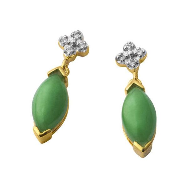 Giani Jade Green Drop Earrings ($46) ❤ liked on Polyvore