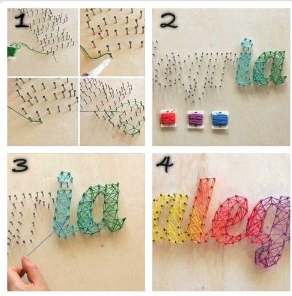 Esto se puede hacer en la habitación de un niño... Sobre corcho!