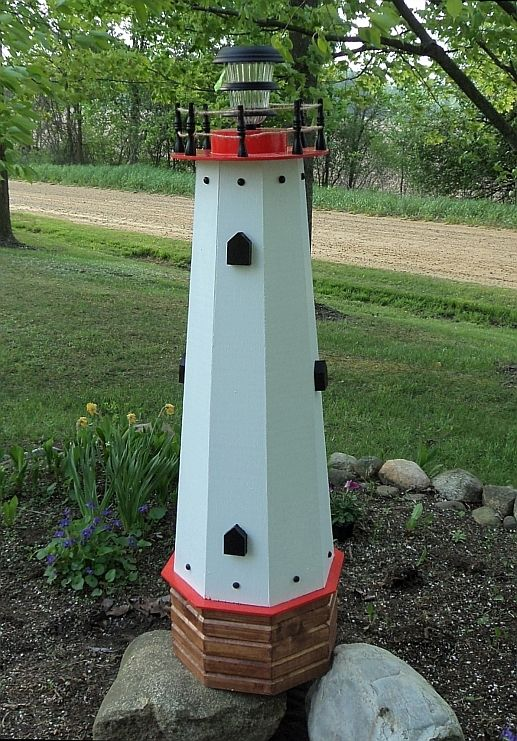 Outdoor Decorative Well Covers Lawn And Garden Lighthouse Head Cover 48