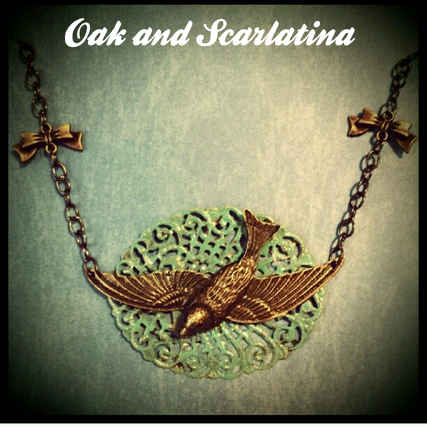 Sparrow Bib Necklace by oak and scarlatina