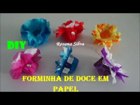 Diy Forminhas De Doces De Papel Modelo 2 Sem Molde Youtube