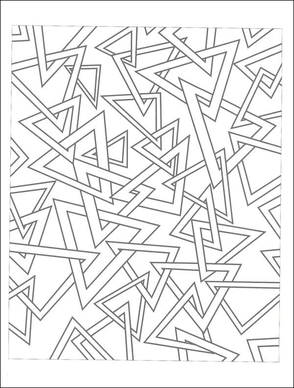 Abstractions 3D Coloring Book | Additional Photo (Inside Page) | art ...