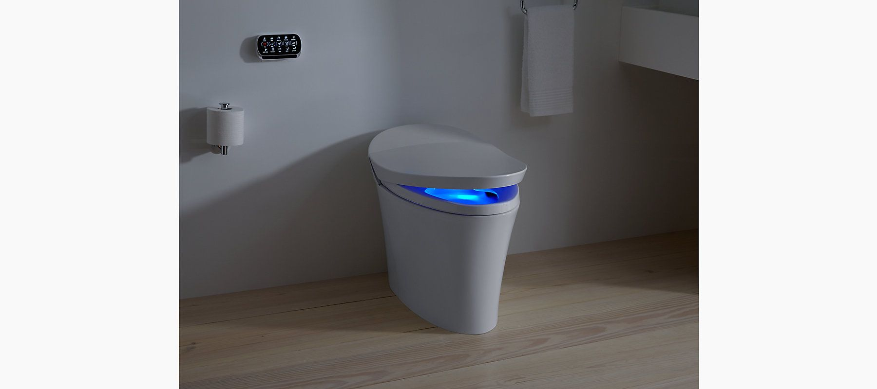 The K-5401 one-piece toilet with integrated bidet functionality ...