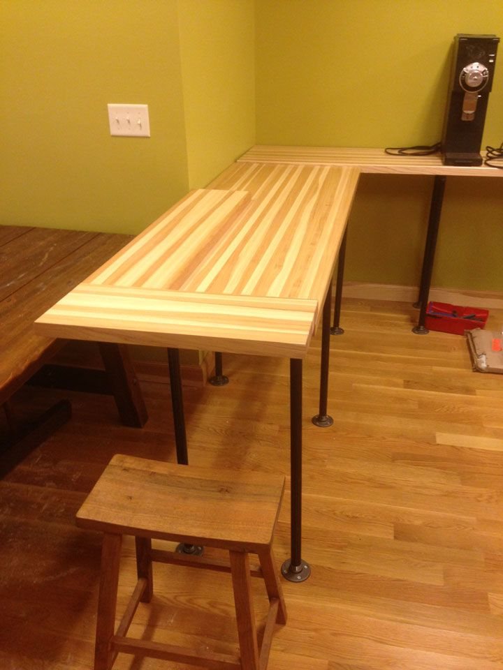 Hickory Butcher Block Countertop In Addition To Hickory S