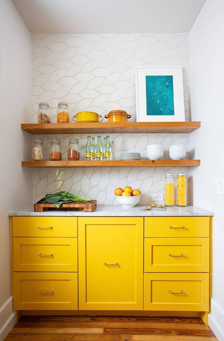Gen Z Yellow Kitchen Corner Bright Yellow Kitchen Yellow Interior Decor Ideas Summer Yellow Decor Yellow Kitchen Cabinets Kitchen Remodel Small Kitchen Decor