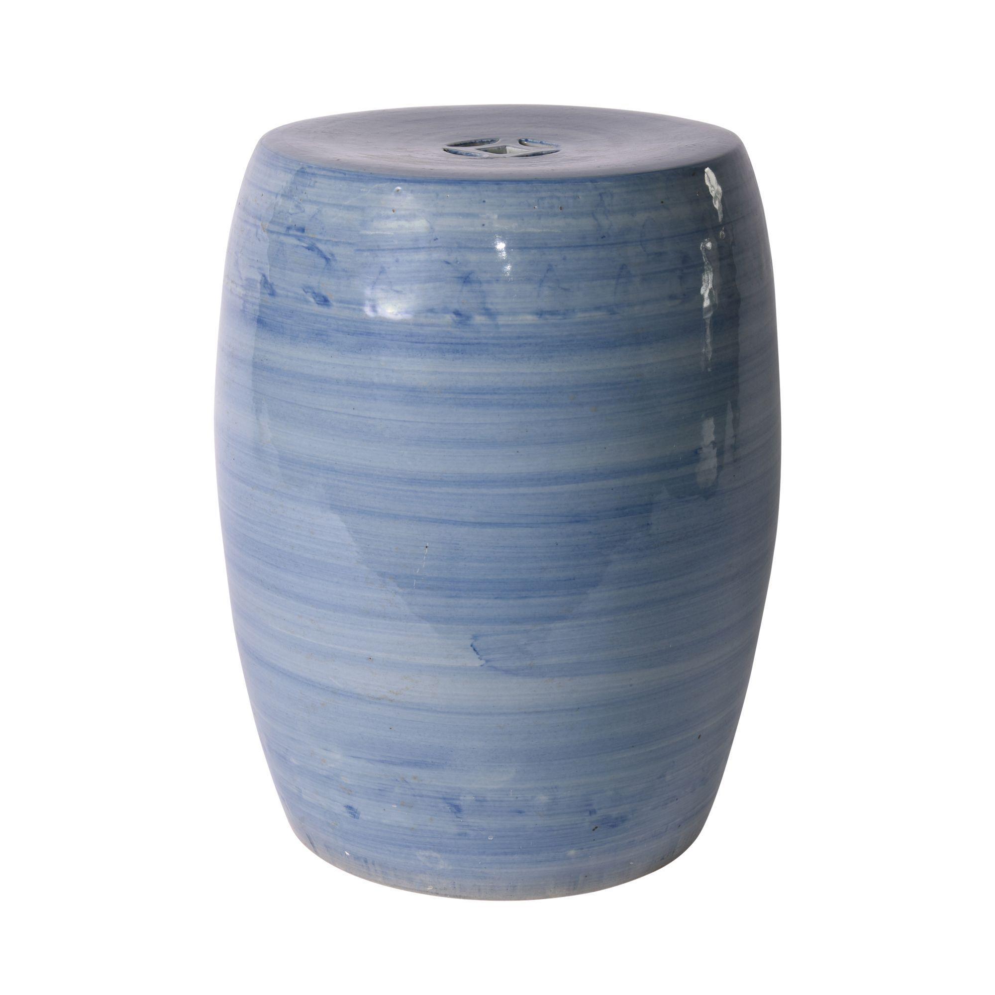Denim Blue Village Garden Stool In 2020 Ceramic Garden Stools Blue Garden Stool Garden Stool