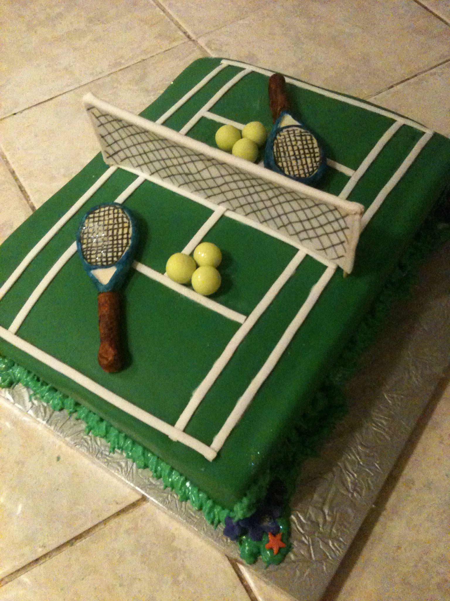 Tennis Court Cake Tennis Cake Tennis Birthday Tennis Racket Cake