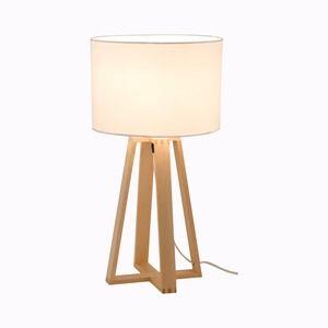 Lampe Design Avec Abat Jour Diametre 16 X H 36 Cm Blanc