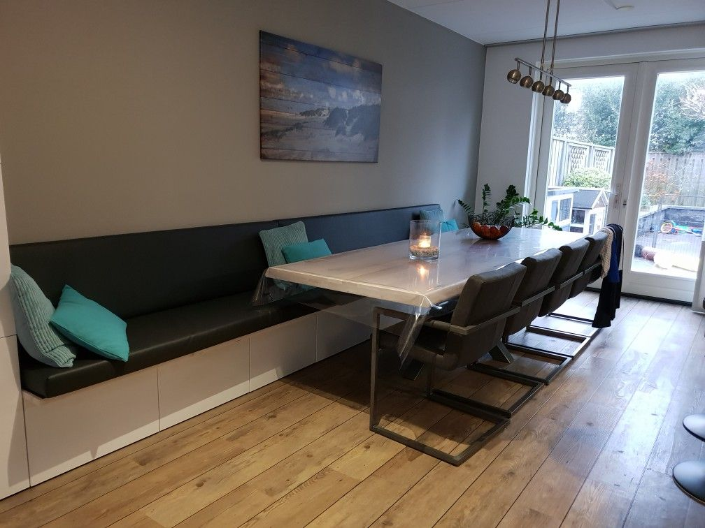 Verwonderlijk Eettafelbank gemaakt van Bestå tv-meubel Ikea. - Eetkamer idee AR-33