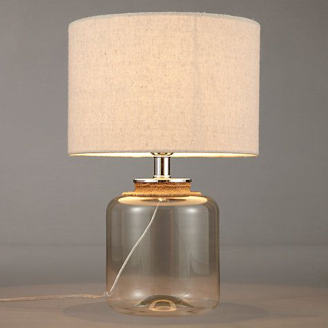 Buy John Lewis Mablethorpe Glass And Rope Table Lamp