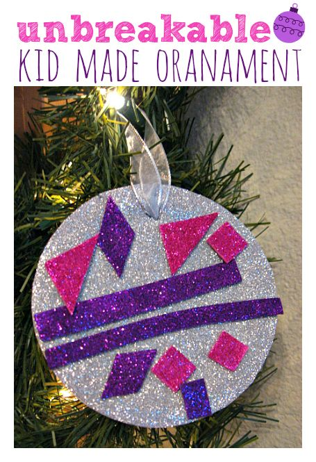 Easy Unbreakable Ornament Craft For Kids No Time For Flash Cards Diy Christmas Tree Ornaments Christmas Crafts Christmas Crafts For Kids
