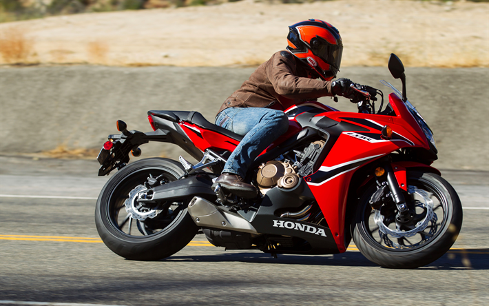 Download Wallpapers Honda CBR650F, 4k, 2018 Bikes, Rider
