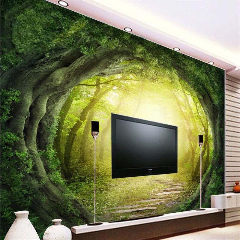 رخيصة Beibehang مخصص صور Wallpaper 3d جذور العالم الفاخرة الجودة