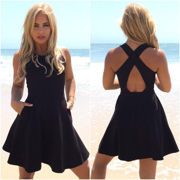 High Tide Skater Dress In Black