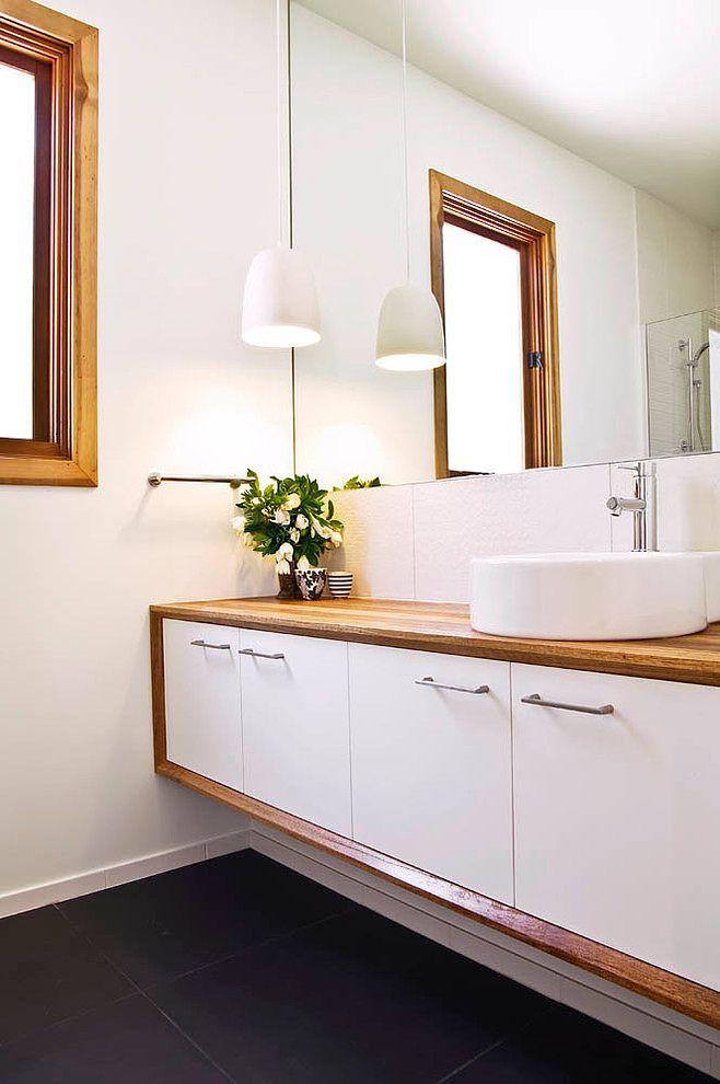 Beach House By Auhaus Architecture Bathroom Vanity Decor White Vanity Bathroom Modern White Bathroom