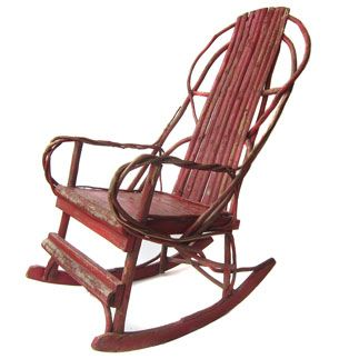 Painted Twig Willow Branch Rocking Chair
