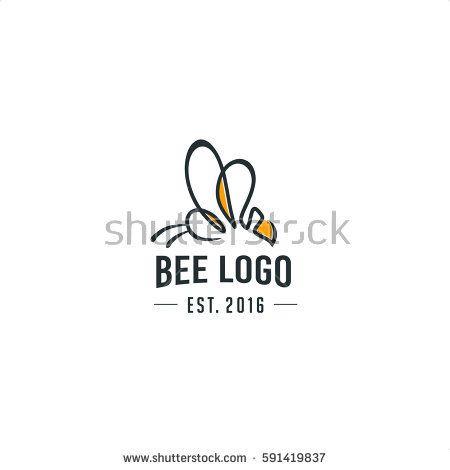 Bee Logo Vector In Retro Style Logo Inspiration Logos Logo