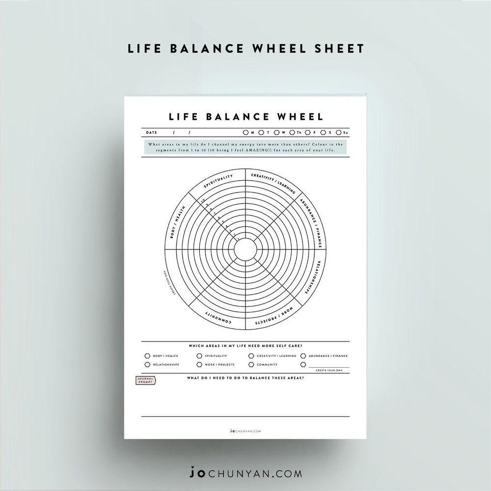 Life Balance Wheel Intuitive life coach, Life balance