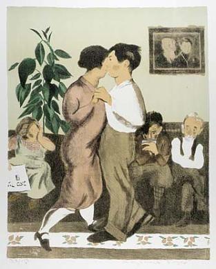 (Memories, portfolio) Dancing Lesson by Raphael Soyer / American Art
