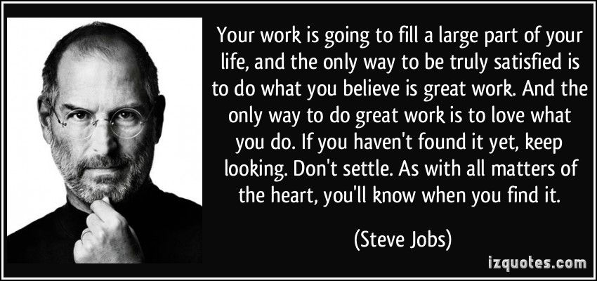 Image result for steve jobs quote about work | Motovation | Job