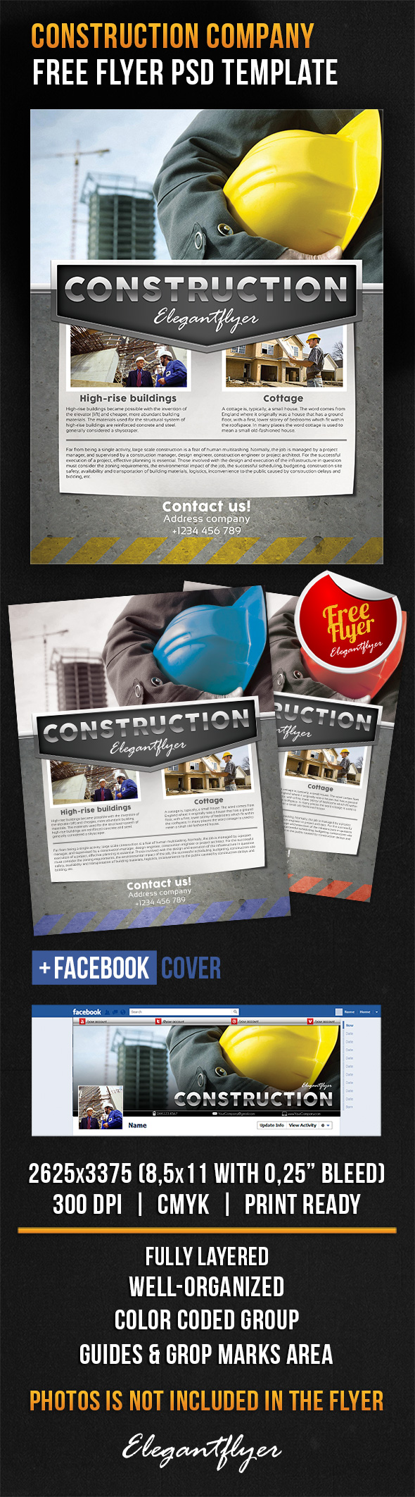 construction company free flyer psd template facebook cover httpswww