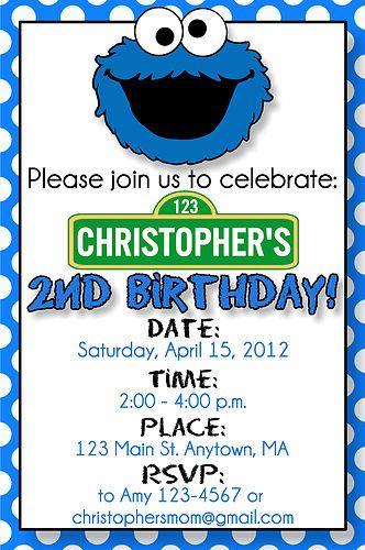 cookie monster invites free printable cookie monster birthday, Birthday invitations