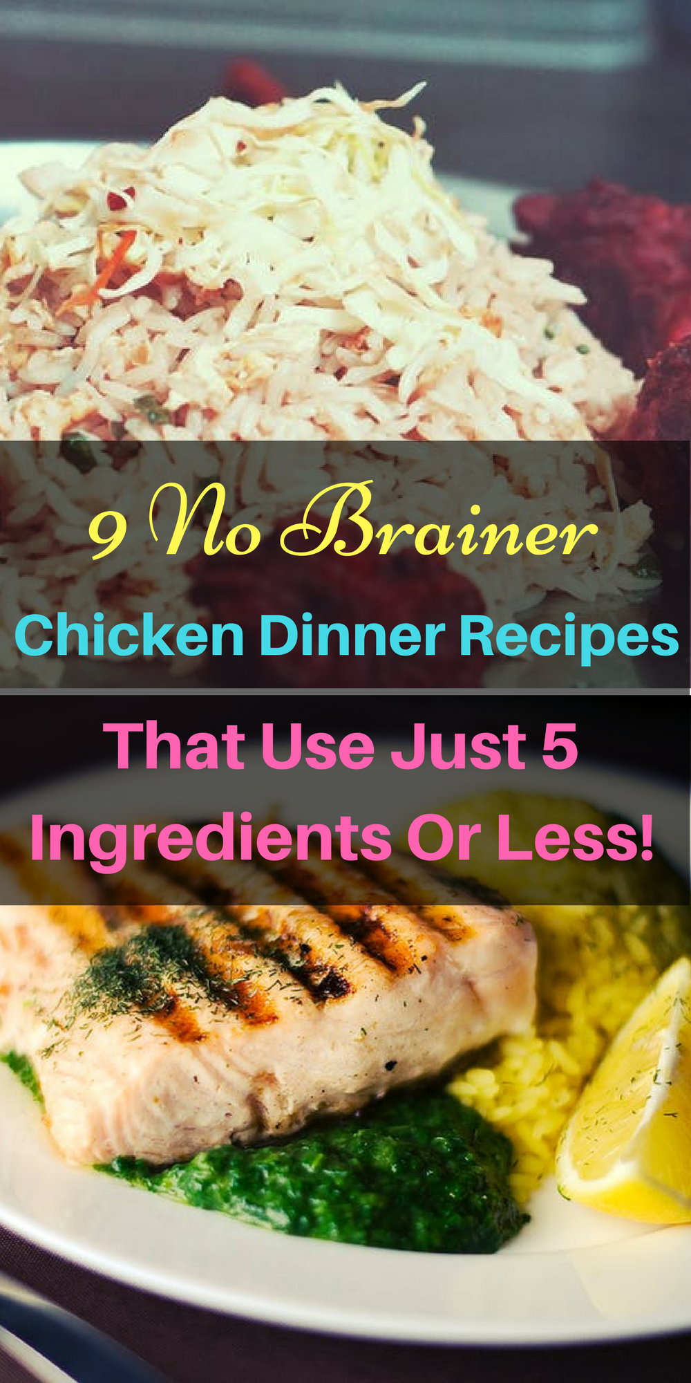 9 genius chicken dinner recipes that use just 5 ingredients or less 9 great ways you can make an easy peasy chicken dinner with just a few forumfinder Choice Image