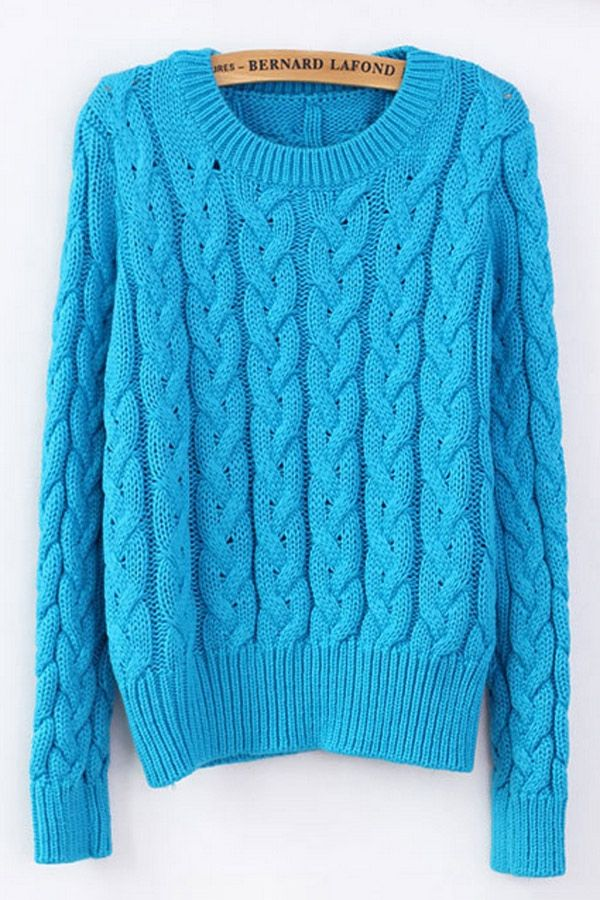 perfect classic sweater, love the bright blue! classic-cable-sweater