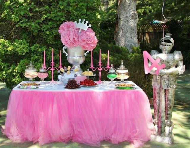 Anniversaire Theme Princesse Disney Decoration De Buffet