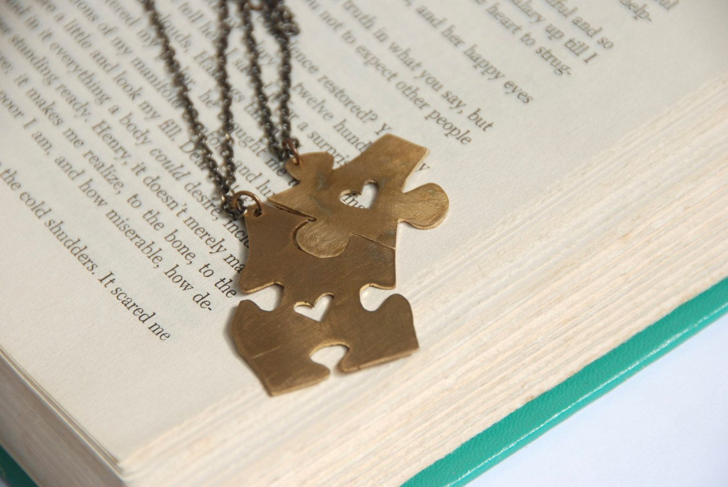 96c07fd72e Puzzle Piece Necklace... I love the idea of puzzle pieces, different shapes  and sizes but the right ones always fit together.