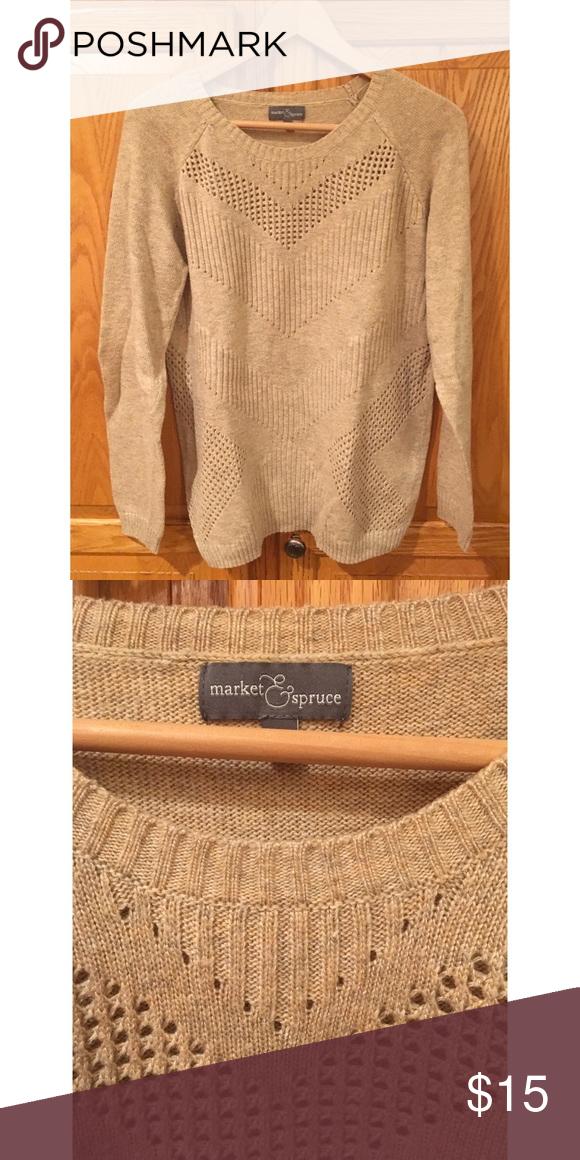 Market and Spruce Yuna Chevron Point Sweater Sz L Like new