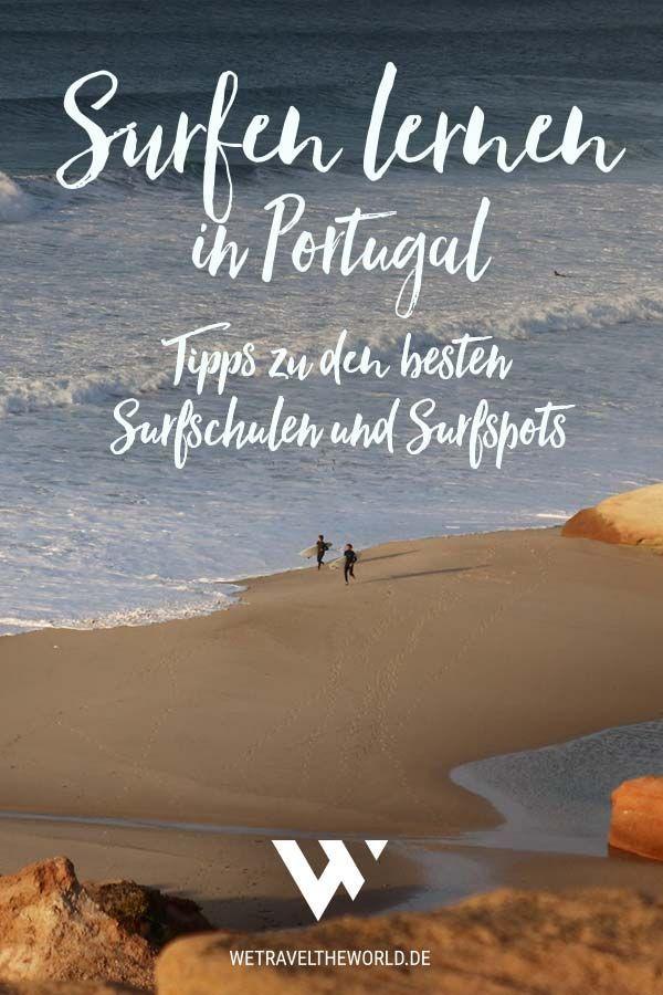 Surfen lernen in Portugal – so planst du deinen Surfurlaub als Anfänger und Fortgeschrittener #bestplacesinportugal