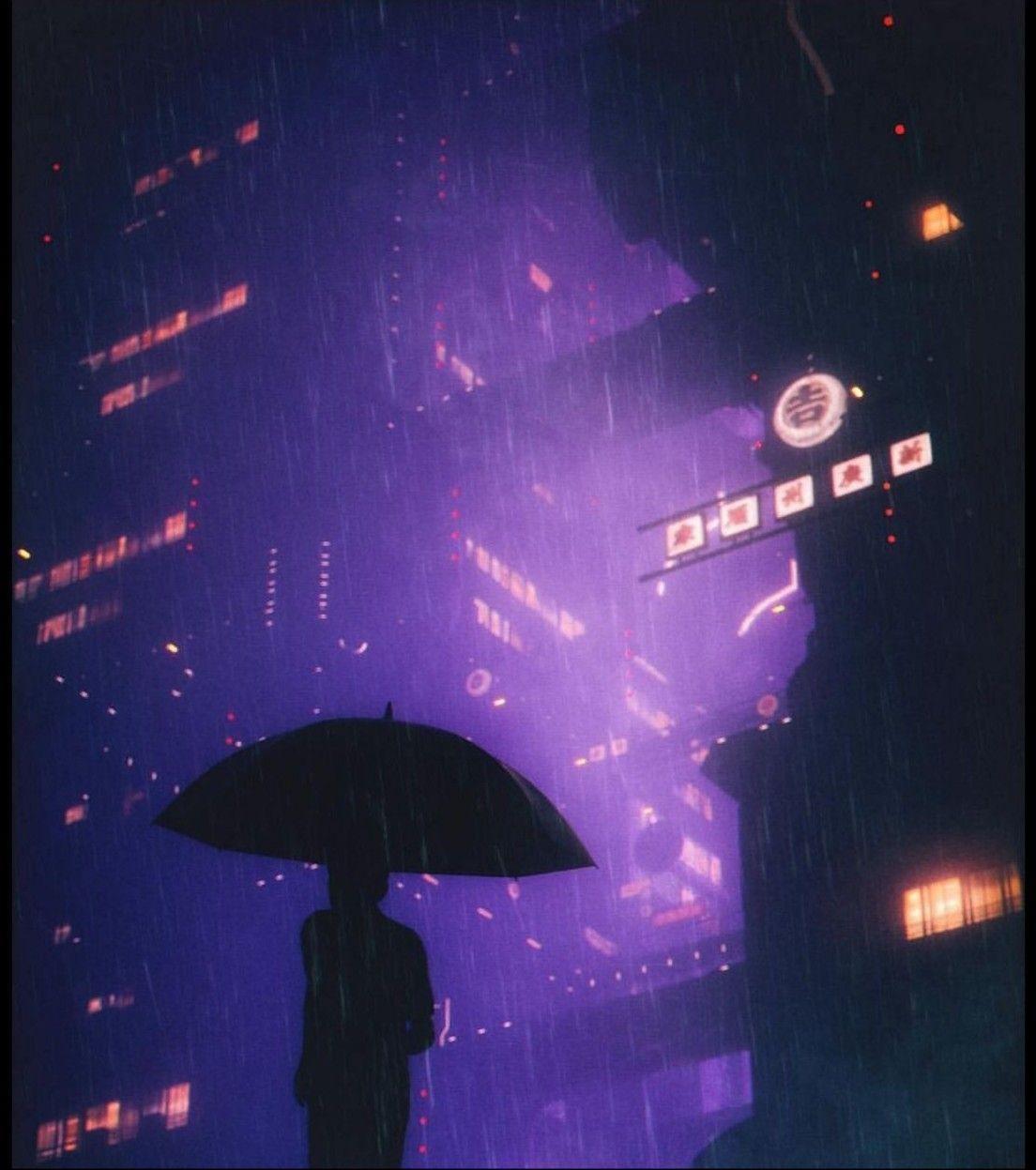 Pin by Hugo Hernandez on Cyber pun Rain wallpapers