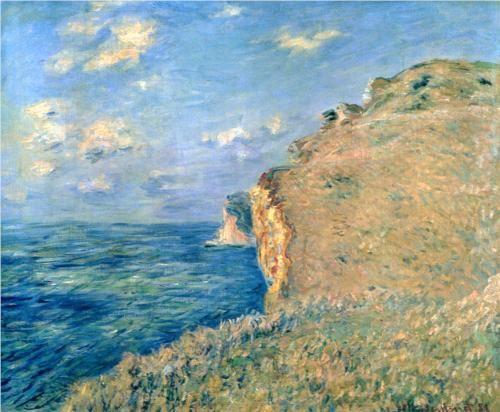 Cliff at Fecamp - Claude Monet Fecamp, France Pinterest Monet